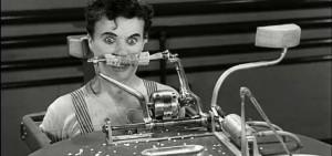 Chaplin em Tempos Modernos